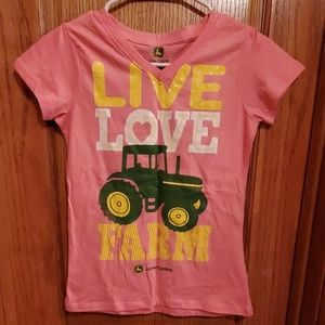 NWOT Girls John Deer shirt, youth size large